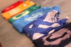 DIY T-shirt designs using bleach.