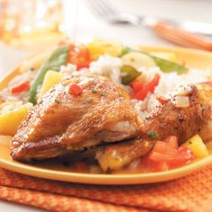 Tropical Chicken Recipe from Taste of Home ::