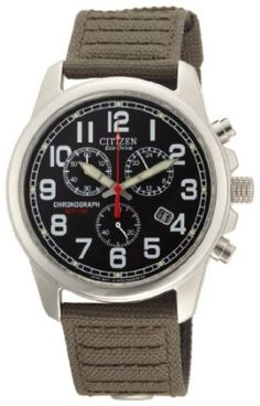Citizen Mens AT0200-05E Eco-Drive Chronograph Canvas Watch