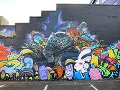 Alice in Wonderland Mural - Cheshire Cat