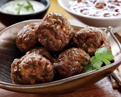Vindaloo Meatballs. Yummy!  These were so easy to make and had just the right amount of spice to them, very tasty!  Delicious with homemade raita!