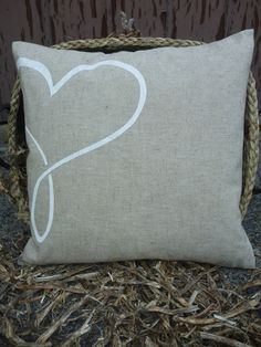 Linen Cushion Cover/ Decorative Pillow by aggiebatters, $20.00