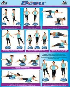 Bosu exercises...these are in line with the ones my physiotherapist has given me to do!