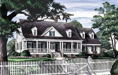 Colonial Country Farmhouse Southern House Plan