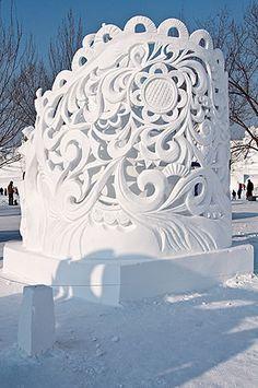 beautiful ornate snow #sculpture