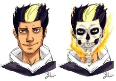This is how Zayn's inspired Ghost Rider character will look like! #marvel