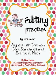 FREE Editing Practice for 2nd Grade - 1 Page - Capitals and Periods