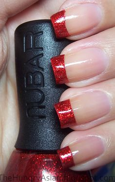 Red sparkle tips