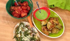 Rachael's spin on a classic recipe: Green Goddess Dressing and Roast Chicken #whatsfordinner