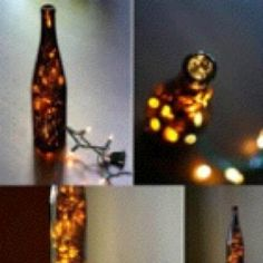 Lamparas con botellas de vino