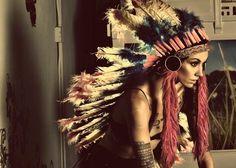 beautiful girl with a beautiful headdress