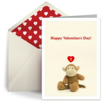 Free digital Monkey Valentine card by Punchbowl
