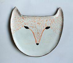 Fox plate - ceramic plate