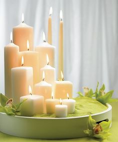 color sand and candles... what a simple but elegant centerpiece