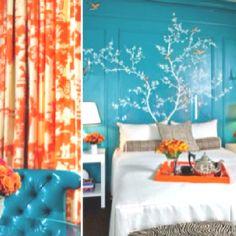 Love orange and turquoise