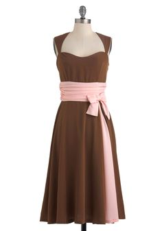 Brown pink dress