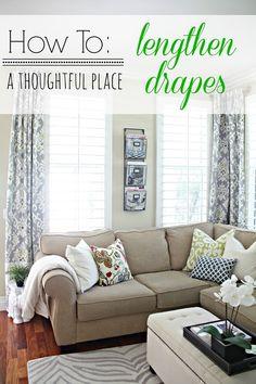 lengthen your drapes