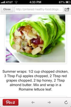 Healthy lunch - GF Wrap!  Could put anything inside!