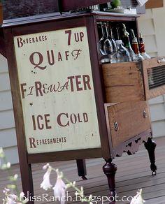 DIY::Old Dresser Turned Vintage Farmhouse Styled Portable Serving Buffet !
