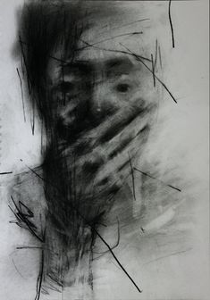 (9) Untitled Conte On Paper 35.5 X 26 2013 ~ by ShinKwangHo