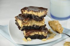 Peanut Butter and Chocolate Buckeye Brownie