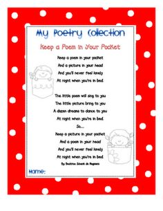 Poems for every month - read and illustrate!
