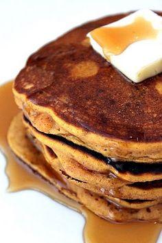 Pumpkin Pie Pancakes slightly adapted from Feels Like Home Blog 1 ½ cups flour 1 ½ tsp. baking powder ¼ tsp. salt 3 Tbsp.sugar ¼ cup pecans, chopped ½ cup raisins 3 Tbsp. butter, melted ¾ cup pumpkin puree ¼ tsp. vanilla extract 2 large eggs 1 tsp. pumpkin pie spice 1 Tbsp. of sugar About 1 cup milk