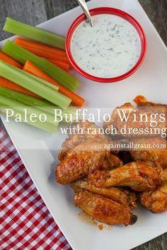Paleo Buffalo Chicken Wings - Against All Grain