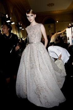 Elie Saab Fall 2013 - Backstage fashion, style, elie saab couture fall 2013, dress, runway, saab fall, ball gown, eli saab, haute couture