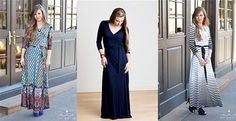Fabulous Faux Wrap Maxi Dress {3 Styles}