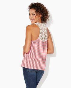 Crochet Racerback Tank | Fashion Apparel | charming charlie