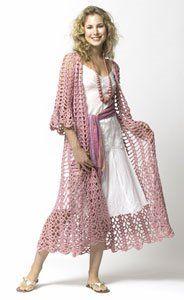 #Crochet Lacy Duster Free Pattern  Crochet Jacket #2dayslook #fashion #nice #CrochetJacket  www.2dayslook.com