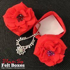 flower top felt boxe