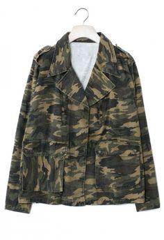 Camouflage Military Jacket