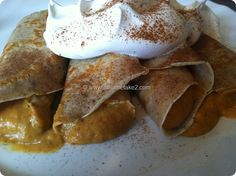 At Home Take 2- Pumpkin Pie Crepes- Easy recipe