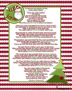 Santa and Christ come together in this beautiful Christmas poem.