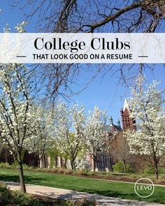 College clubs that will help you with your career. This is an awesome website that can help me decide what clubs I want to join next year!