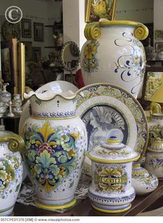 Italian pottery pieces for my mother