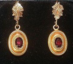 Memento Mori Victorian Earrings - 14K from luxury on Ruby Lane
