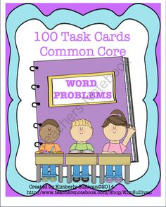 Math Bundle! Task Cards and Challenges!! Enter for your chance to win 1 of 3.  Math Bundle! 140 Task Cards! Common Core!  (0 page) from Kimberly Sullivan on TeachersNotebook.com (Ends on on 10-26-2014)  Math Bundle! 100 Word Problem Task Cards and 40 Math Challenges!