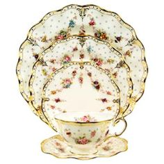 Royal Antoinette by Royal Crown Derby   Michael C. Fina...Tea service for the Bennett family used for BBC's production of Pride and Predjudice