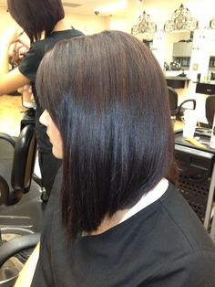 Long Inverted Bob - Oh I really like this. Going shorter without cutting off all the hair.