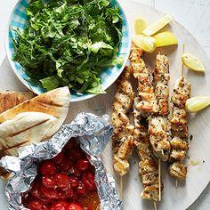 Grilled Chicken Souvlaki #myplate #protein #vegetables