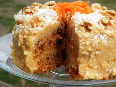 Grain Free Carrot Cake (raw/vegan)