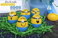 Minions Eggs, How to make Minions Easter Eggs, #Minions, #Eggs, #Easter