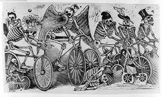 Calavera las bicicletas. José Guadalupe Posada.