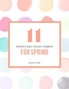 nail polish, spring nails, polish nails, nail combo, beauty nails