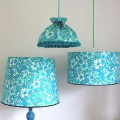 Vintage Bed Linen Lampshades