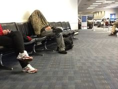 This is pretty unsettling, while sitting in an airline terminal.