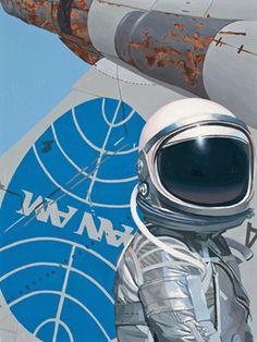 Astronaut paintings by Scott Listfield